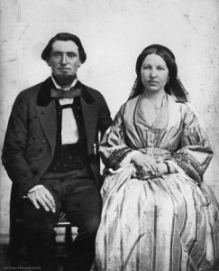 Albert and Emily Seeley. Albert purchased Bandini's dilapidated home in 1869 and the couple added the second story to accommodate passengers on Albert's stagecoach line between San Diego and Los Angeles.