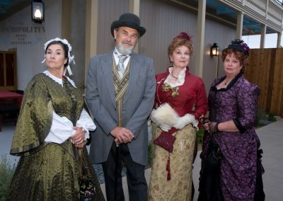 Costumed Characters in nineteenth century wester attire