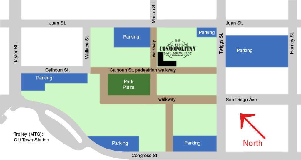 The Cosmopolitan Hotel and Restaurant Parking Spaces