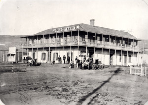 Photograph of the Cosmopolitan in about 1874. A multi-year, multi-million dollar restoration effort has returned the historic structure to its 1874 glory.