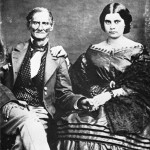 Don Juan Bandini and his daughter, Margarita. Bandini built the adobe portions of what is now the Cosmopolitan Hotel and Restaurant as an elegant home for his family in 1829.